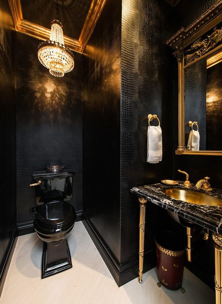 Туалет в  цветах:   Бежевый, Коричневый, Светло-серый, Темно-коричневый, Черный.  Туалет в  стиле:   Классика.