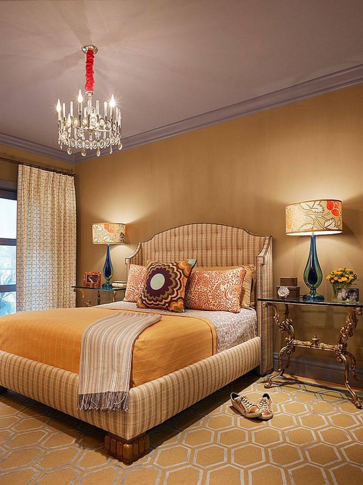 Спальня в  цветах:   Бежевый, Коричневый, Светло-серый, Серый, Темно-коричневый.  Спальня в  стиле:   Эклектика.