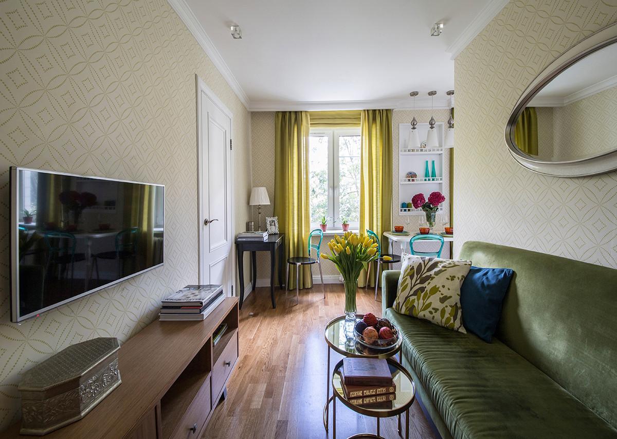 Как использовать 41 метр площади с пользой: маленькая квартира для большой семьи