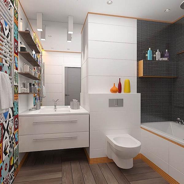 Туалет в  цветах:   Бежевый, Светло-серый, Серый, Темно-коричневый, Черный.  Туалет в  стиле:   Минимализм.