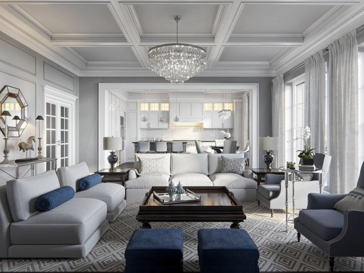 Как создать интерьер в стиле американской классики: квартира в Питере
