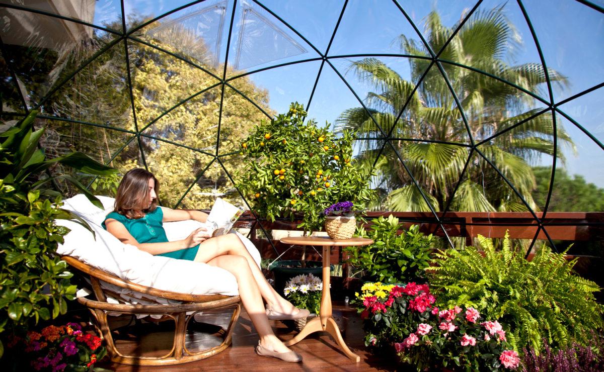 Комната для сада, или дворовый иглу