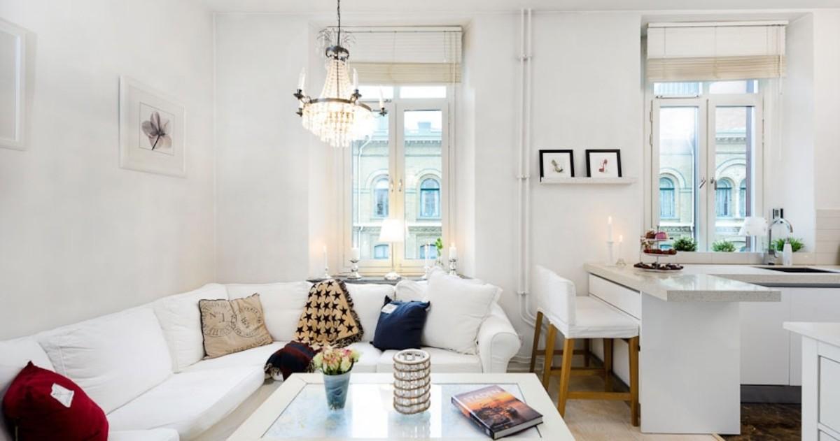 Скандинавский минимализм на 33 метрах: студия с кроватью под потолком