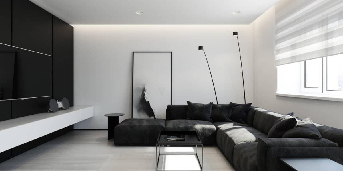 Эталон современного минимализма: чёрно-белая квартира для молодой пары в Питере