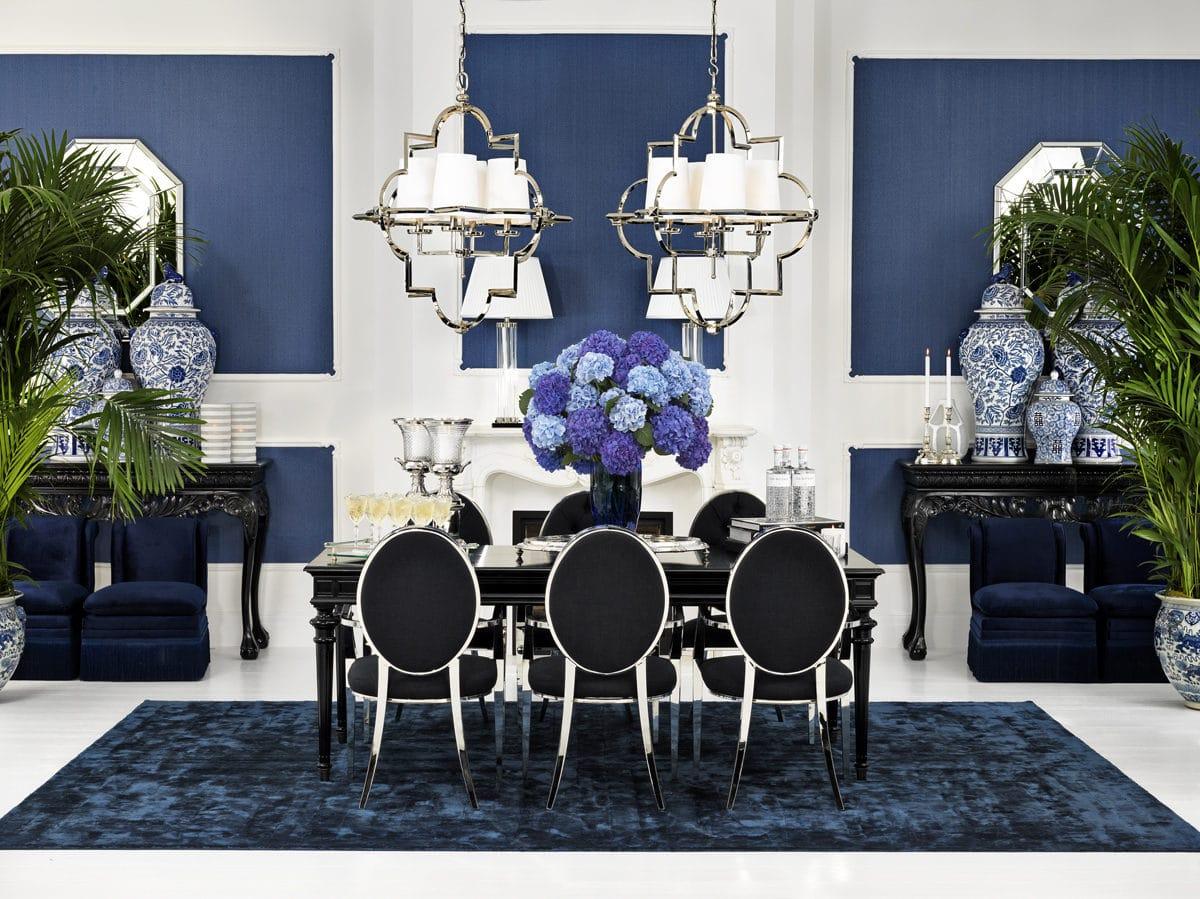 Кухня/столовая в  цветах:   Белый, Светло-серый, Синий, Фиолетовый, Черный.  Кухня/столовая в  стиле:   Арт-деко.