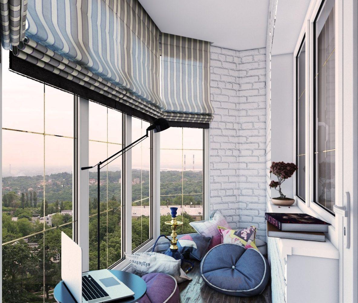 Балкон в  цветах:   Белый, Светло-серый, Серый, Черный.  Балкон в  стиле:   Скандинавский.