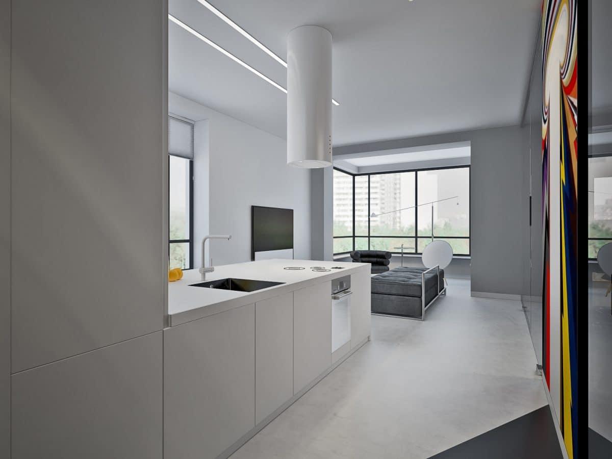 Кухня/столовая в  цветах:   Светло-серый, Серый, Черный.  Кухня/столовая в  стиле:   Скандинавский.