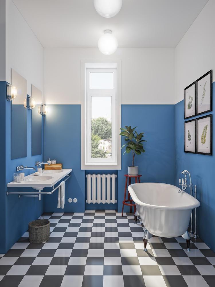 Ванная в  цветах:   Бежевый, Бирюзовый, Светло-серый, Синий, Сиреневый.  Ванная в  стиле:   Скандинавский.