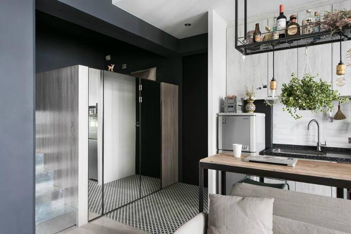 Кухня/столовая в  цветах:   Светло-серый, Серый, Темно-зеленый, Темно-коричневый, Фиолетовый.  Кухня/столовая в  стиле:   Скандинавский.