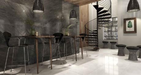 Кухня/столовая в  цветах:   Бежевый, Серый, Темно-коричневый.  Кухня/столовая в  стиле:   Скандинавский.