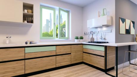Кухня/столовая в  цветах:   Бежевый, Коричневый, Серый, Фиолетовый.  Кухня/столовая в  стиле:   Минимализм.