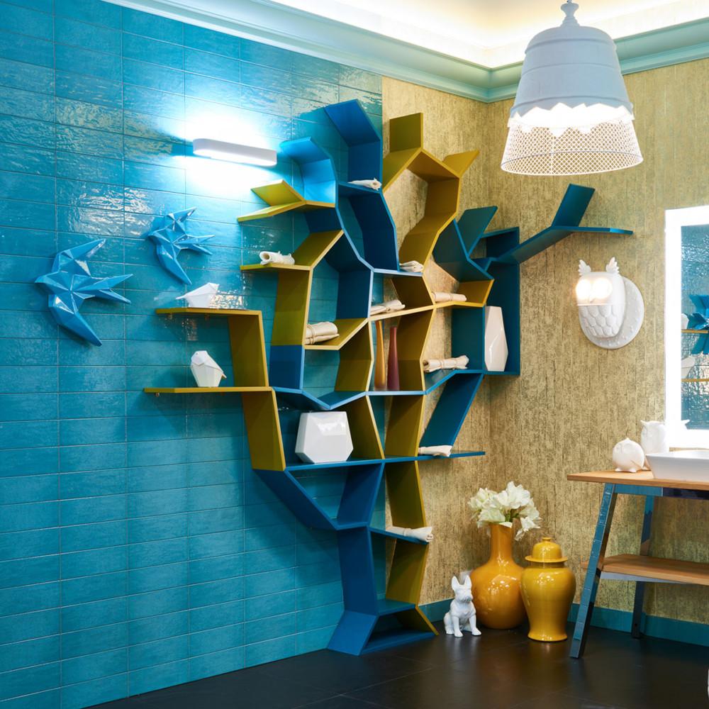 Гнездо совы: оригинальный интерьер ванной комнаты от Елены Теплицкой