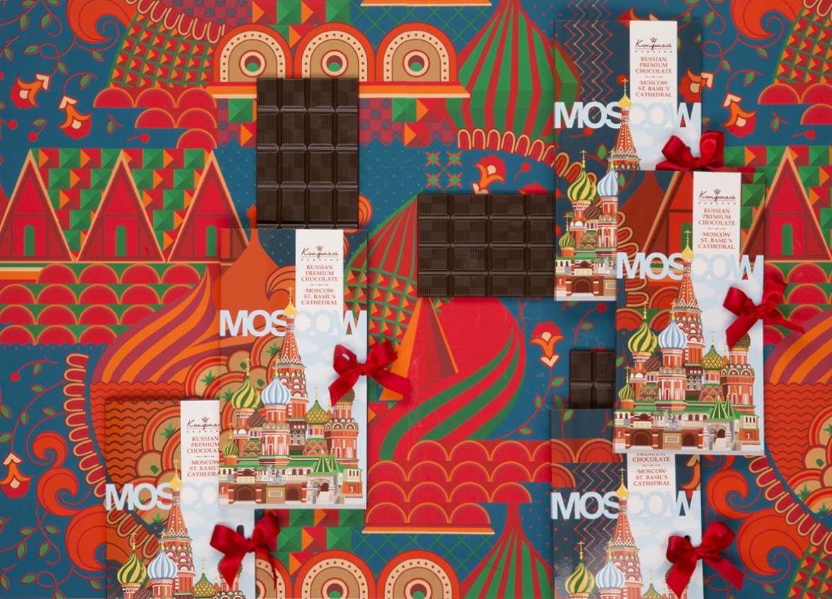 С помощью принтера был создан уникальный дизайн шоколада