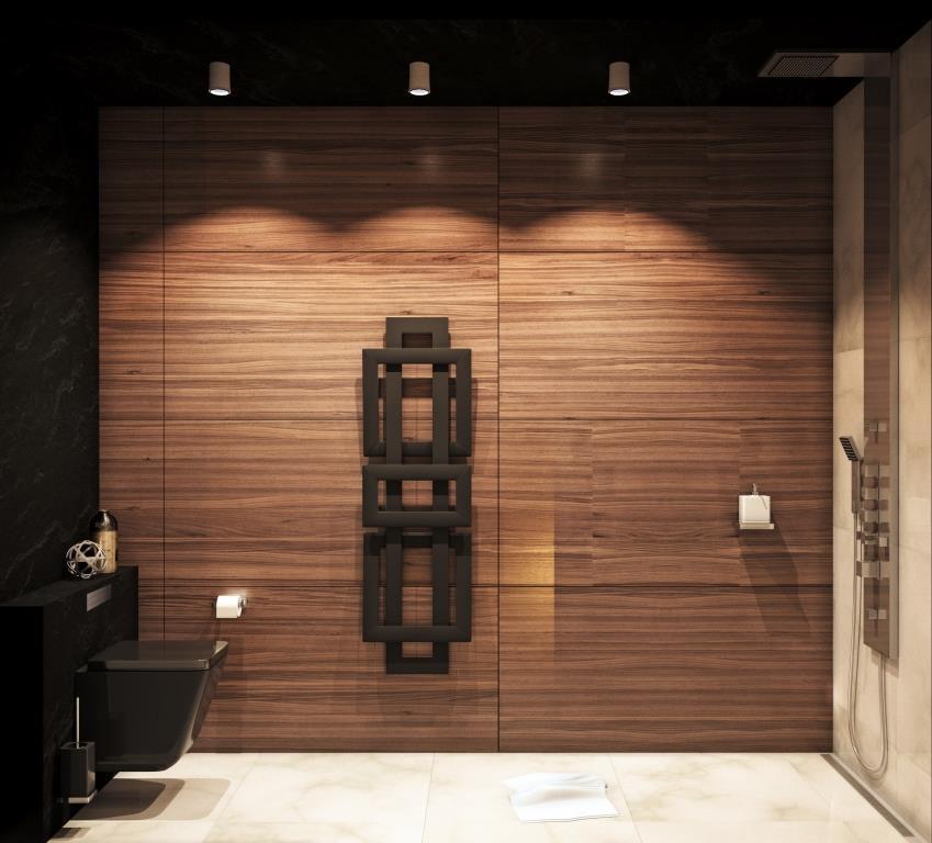Туалет в  цветах:   Бежевый, Коричневый, Серый, Темно-коричневый.  Туалет в  стиле:   Минимализм.