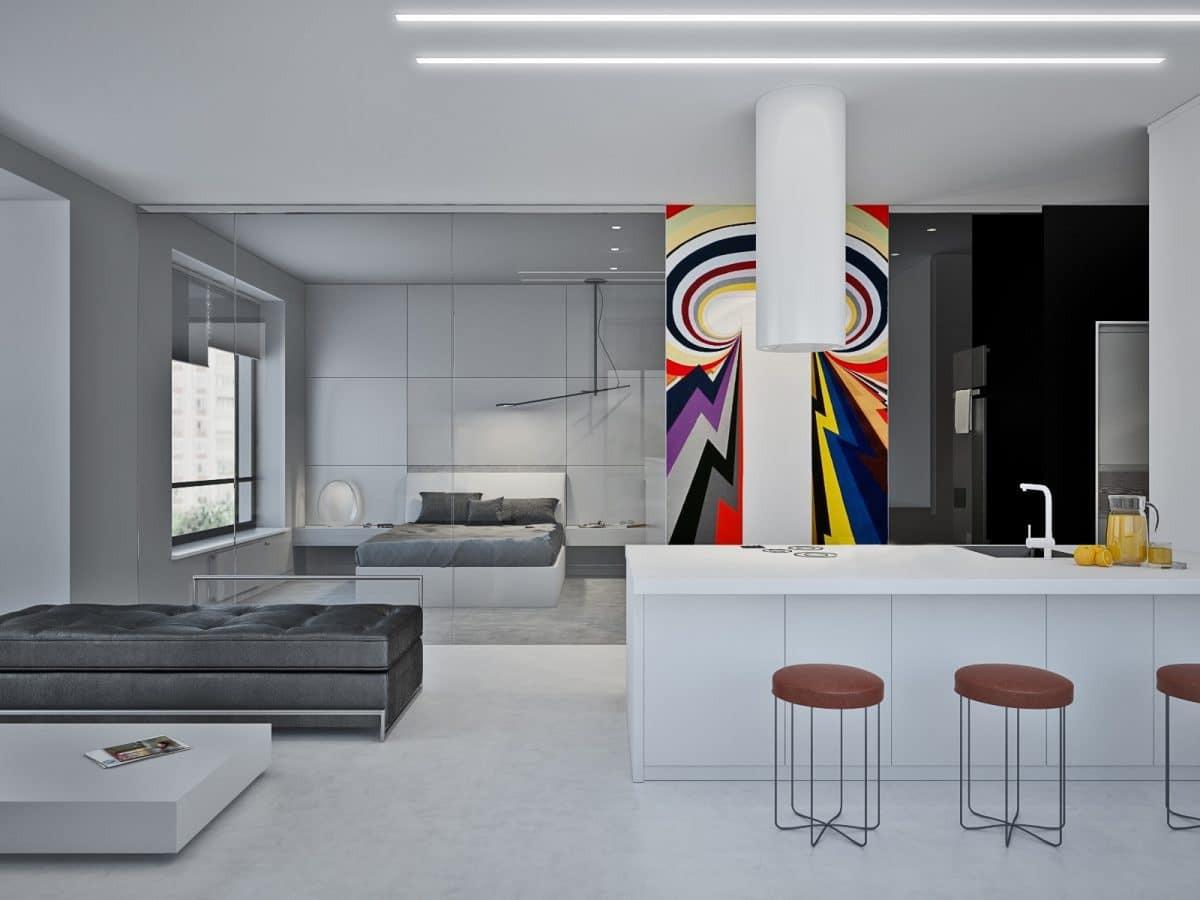 5 двухкомнатных квартир в современном стиле