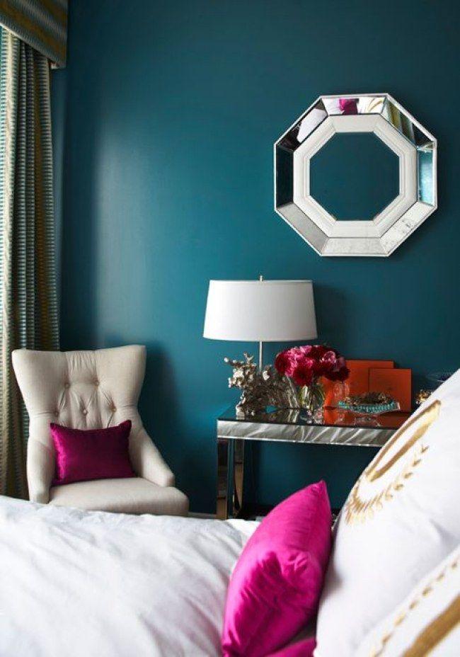 Спальня в  цветах:   Бирюзовый, Голубой, Розовый, Синий.  Спальня в  стиле:   Неоклассика.