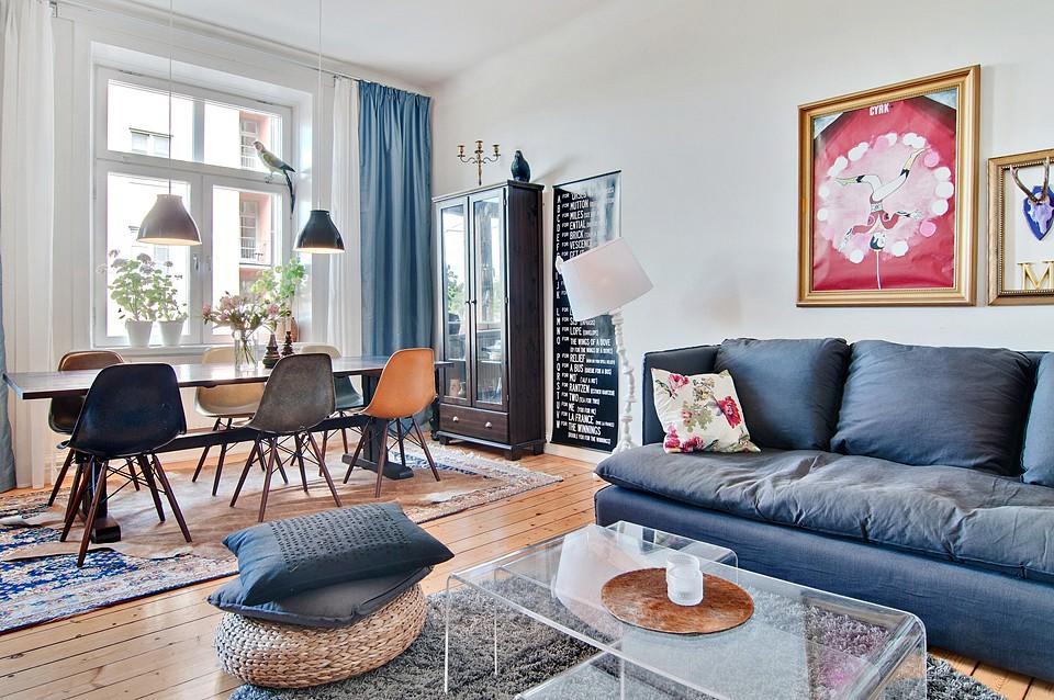 7 трёхкомнатных квартир в скандинавском стиле