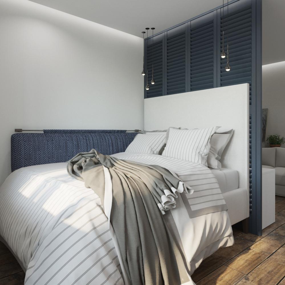 Спальня в  .  Спальня в  стиле:   Скандинавский.
