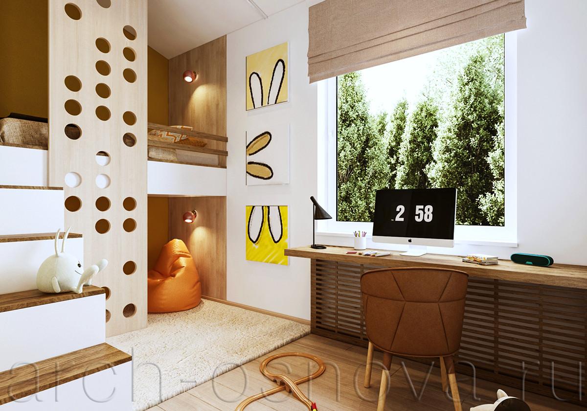 Рабочая столешница расположена рядом с окном, что обеспечивает максимальное естественное освещение этой зоны.