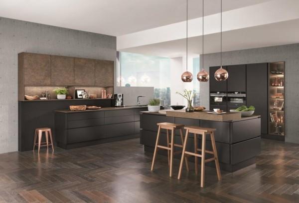 Кухня/столовая в  цветах:   Бежевый, Коричневый, Розовый, Темно-коричневый.  Кухня/столовая в  стиле:   Лофт.