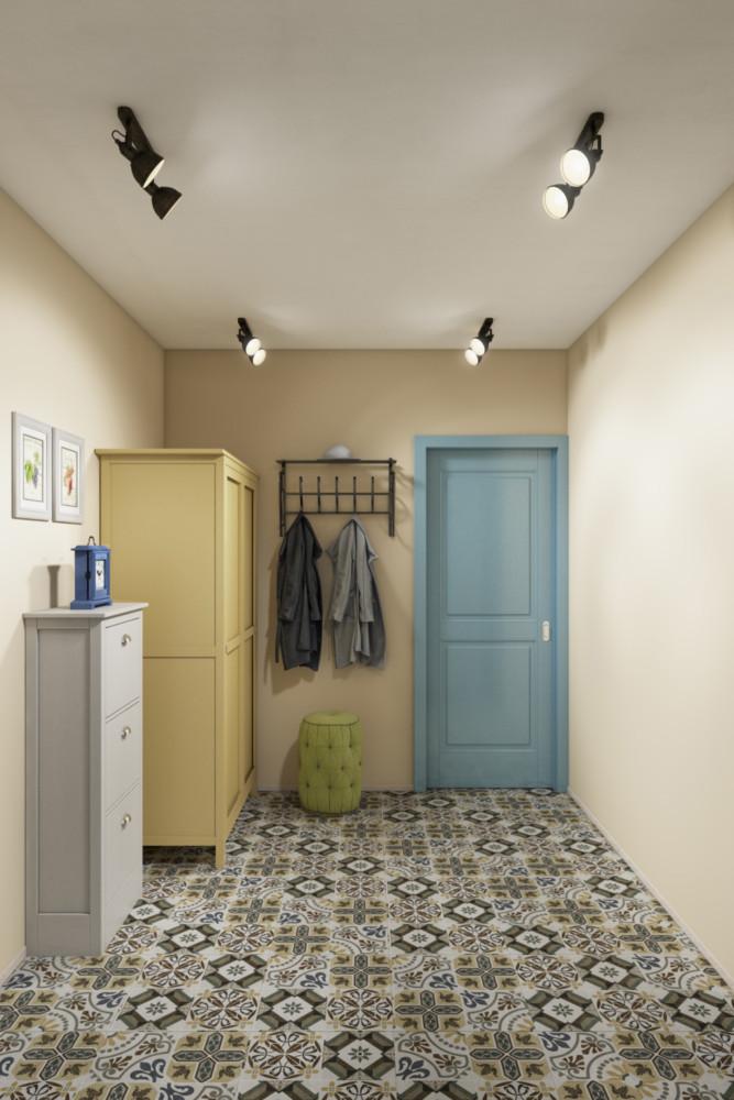 Прихожая встречает ярким гардеробным шкафом из серии ХЕМНЕСС (ИКЕА).