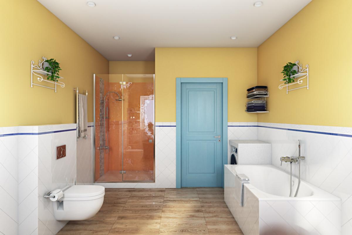 Яркий цвет стен заряжает бодрым настроением на весь день.