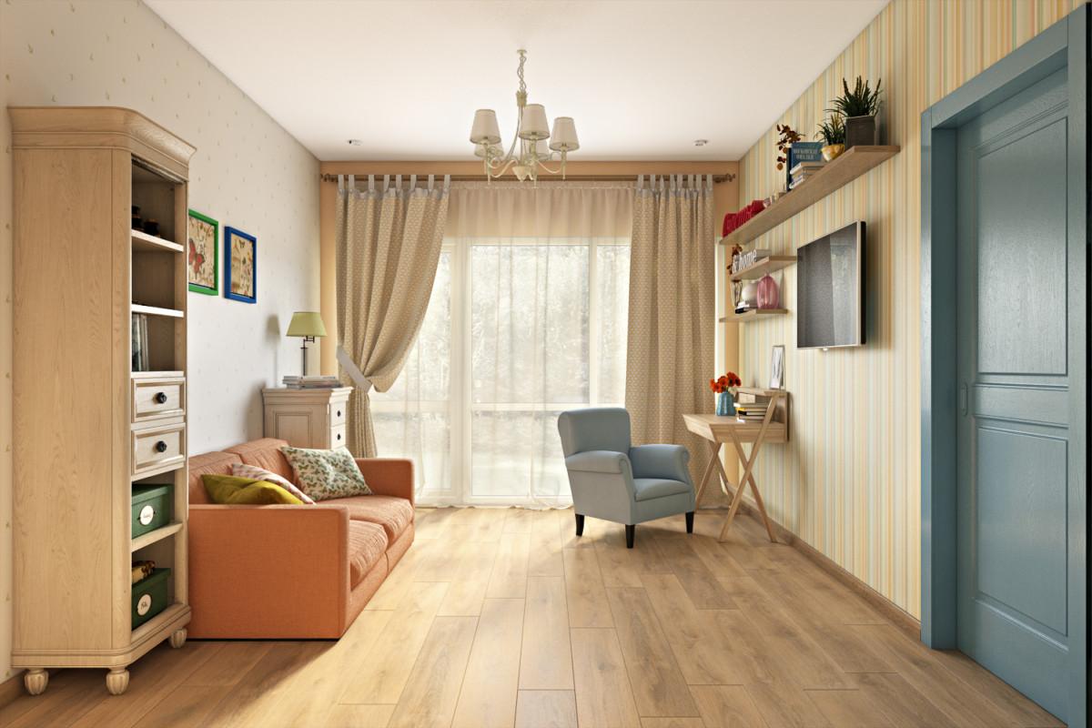 Комната хозяйки с уголком для творчества.
