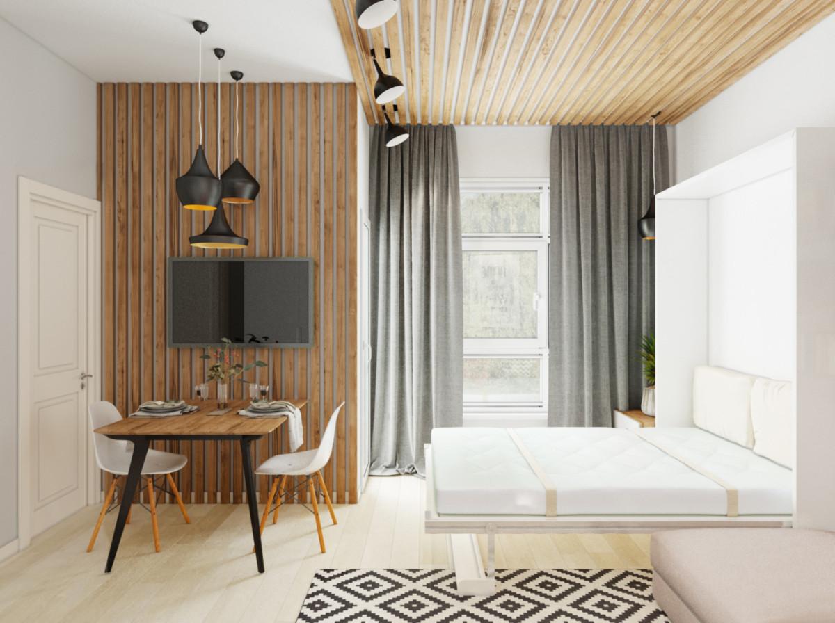 Крохотная квартира-трансформер в Сочи от российского дизайнера