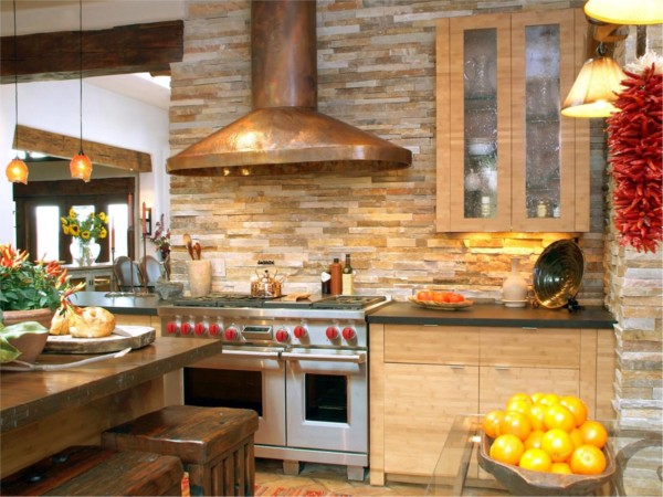 Кухня/столовая в  цветах:   Бежевый, Бордовый, Лимонный, Светло-серый, Темно-коричневый.  Кухня/столовая в  стиле:   Кантри.