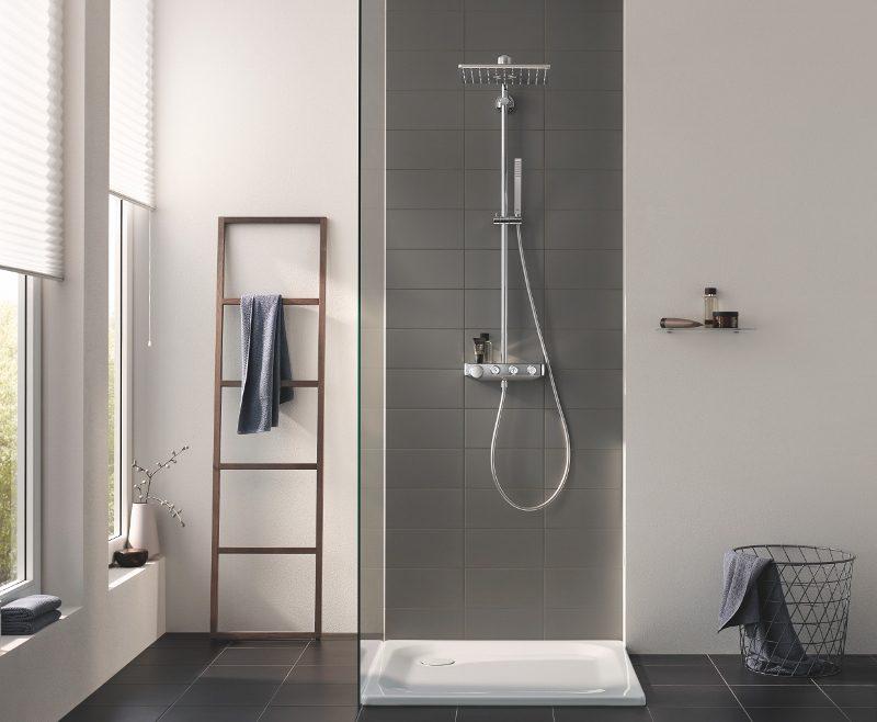 Как сэкономить место в ванной комнате: идея от Grohe