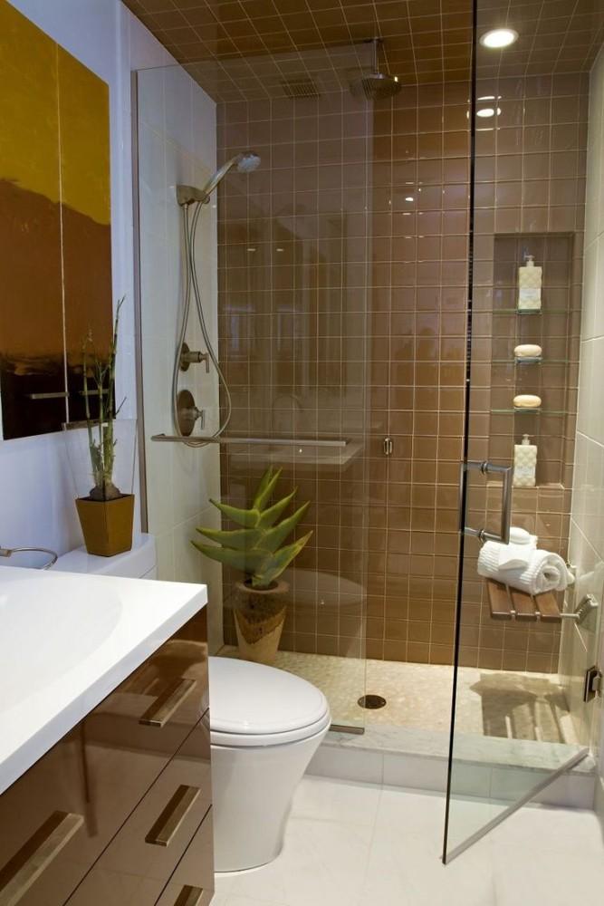 Маленькая ванная комната: современный дизайн