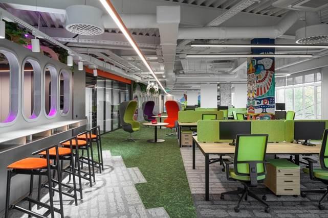 Архитектурное бюро ABD Architects оформило офис компании Mafin в тропическом стиле