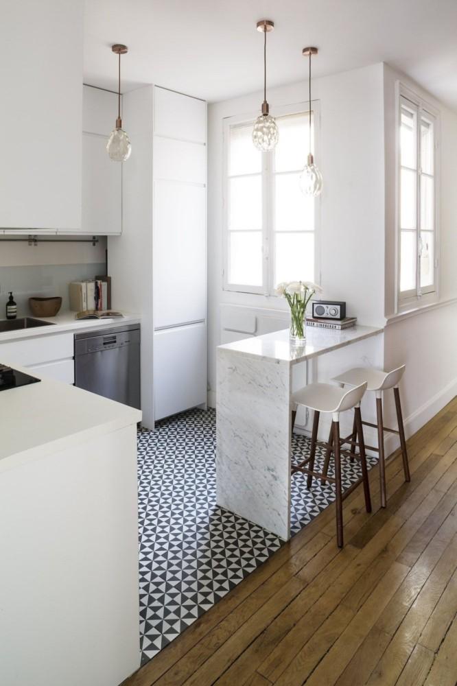 Современный интерьер: дизайн кухни с барной стойкой