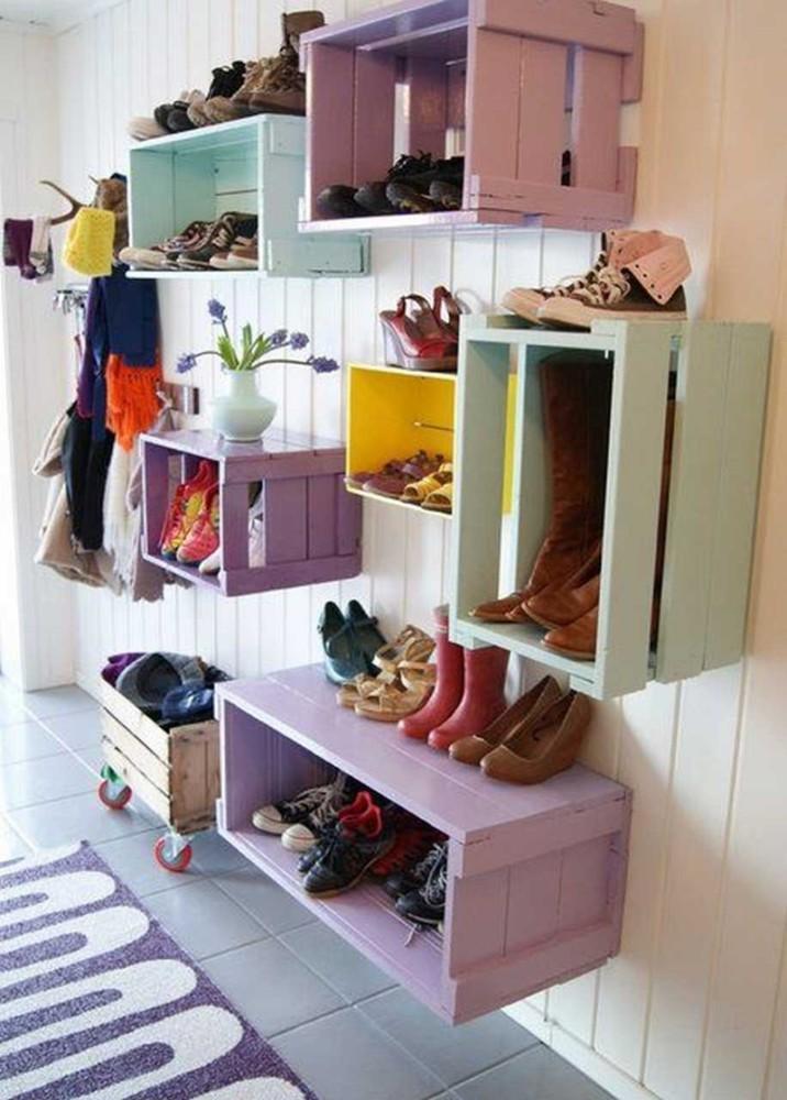 Хранение обуви: 22 творческие идеи для организации пространства